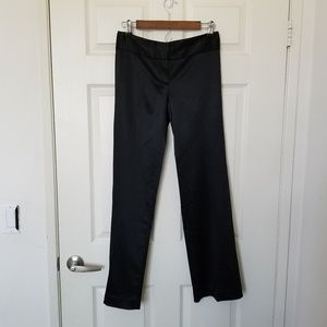 Theory Size 4 Satin Black Pants